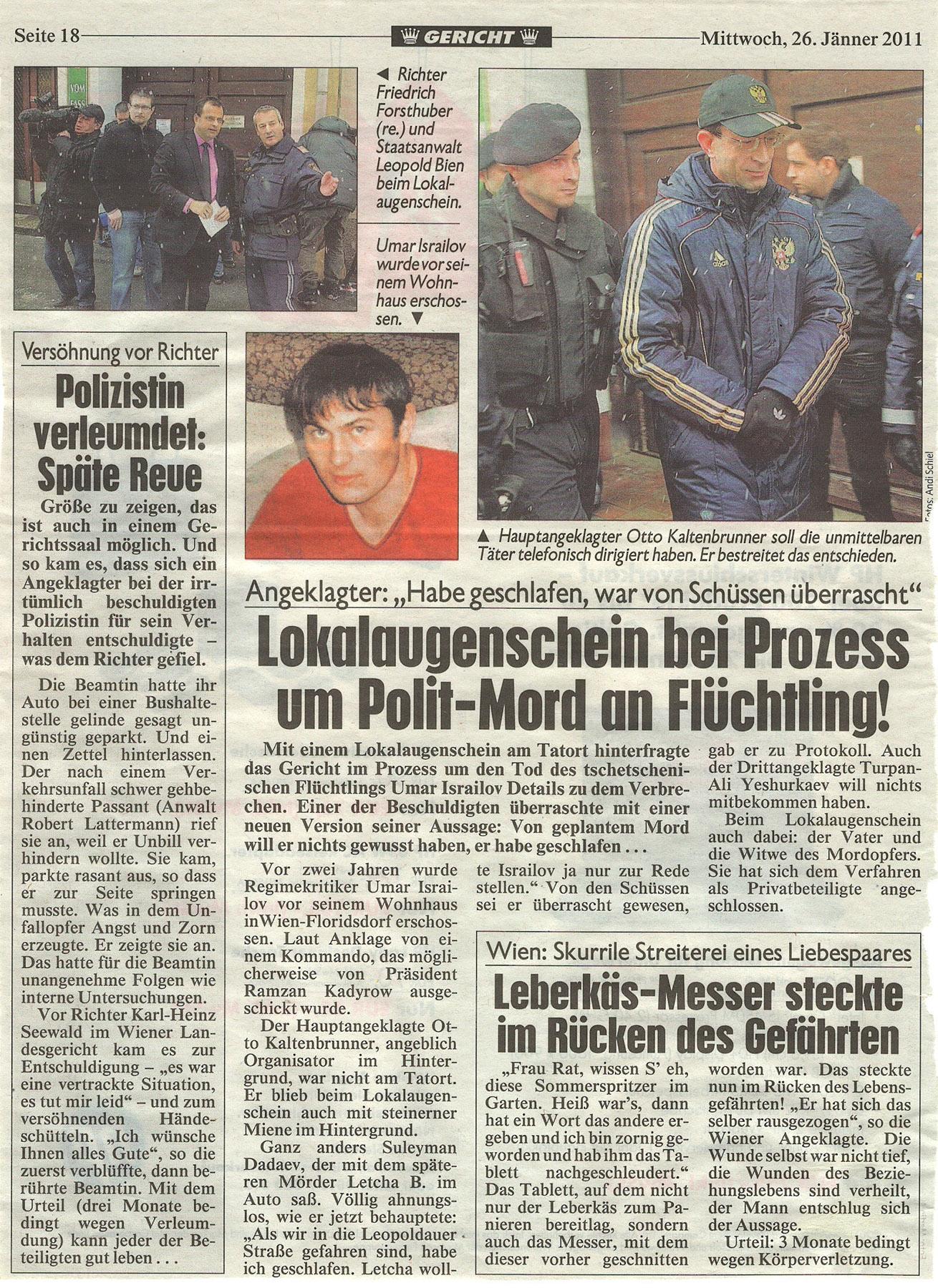 26. Januar 2011 © Krone