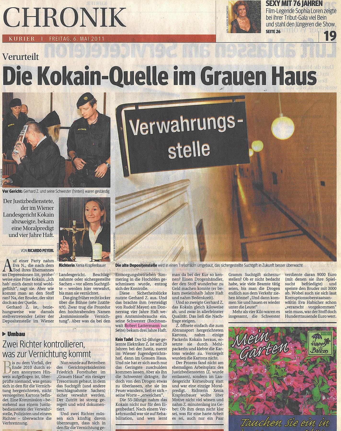 6. Mai 2011 © Kurier