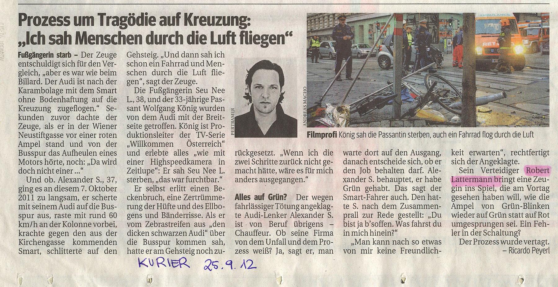 25. September 2012 © Kurier