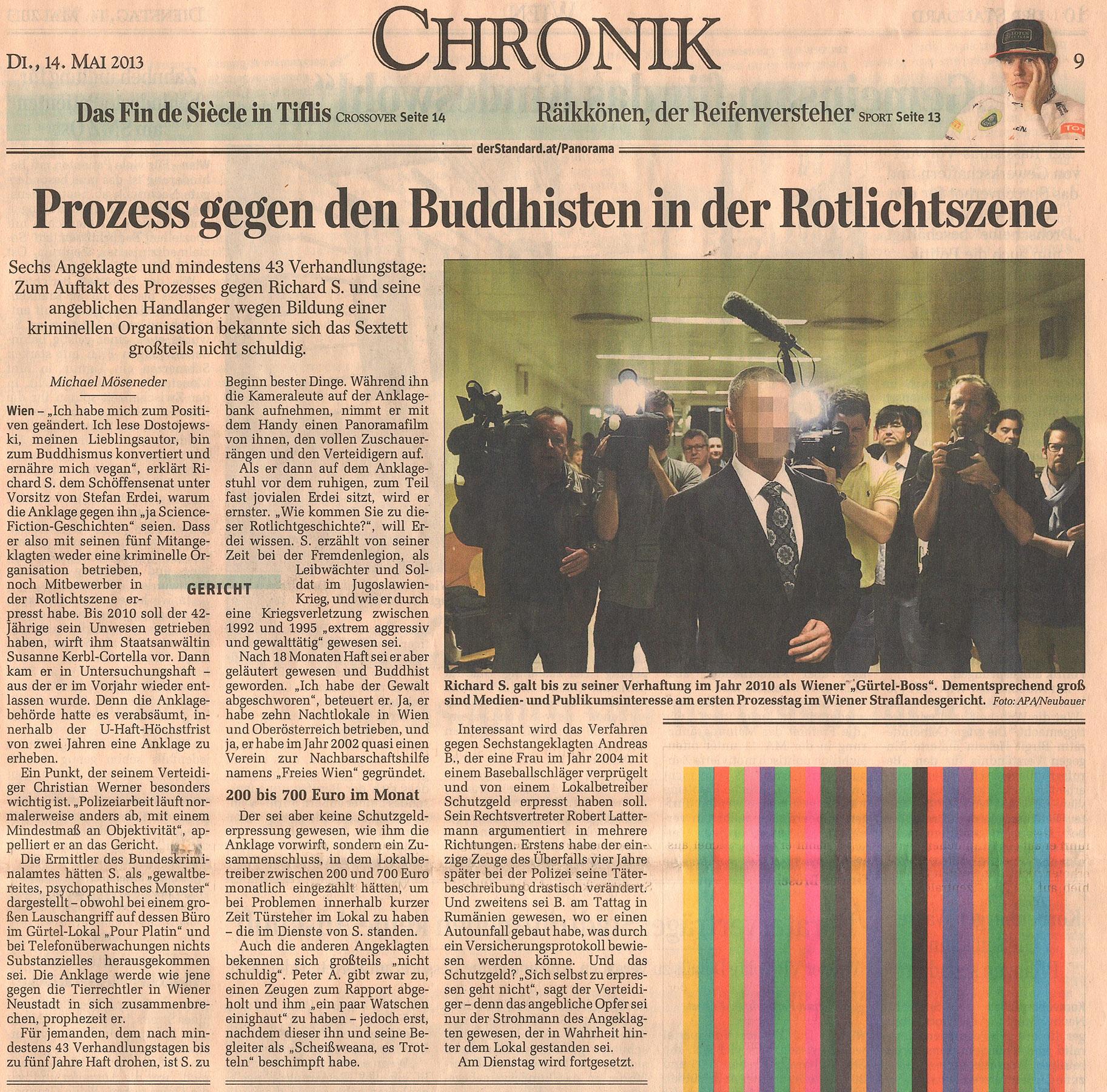 14. Mai 2013 © Der Standard