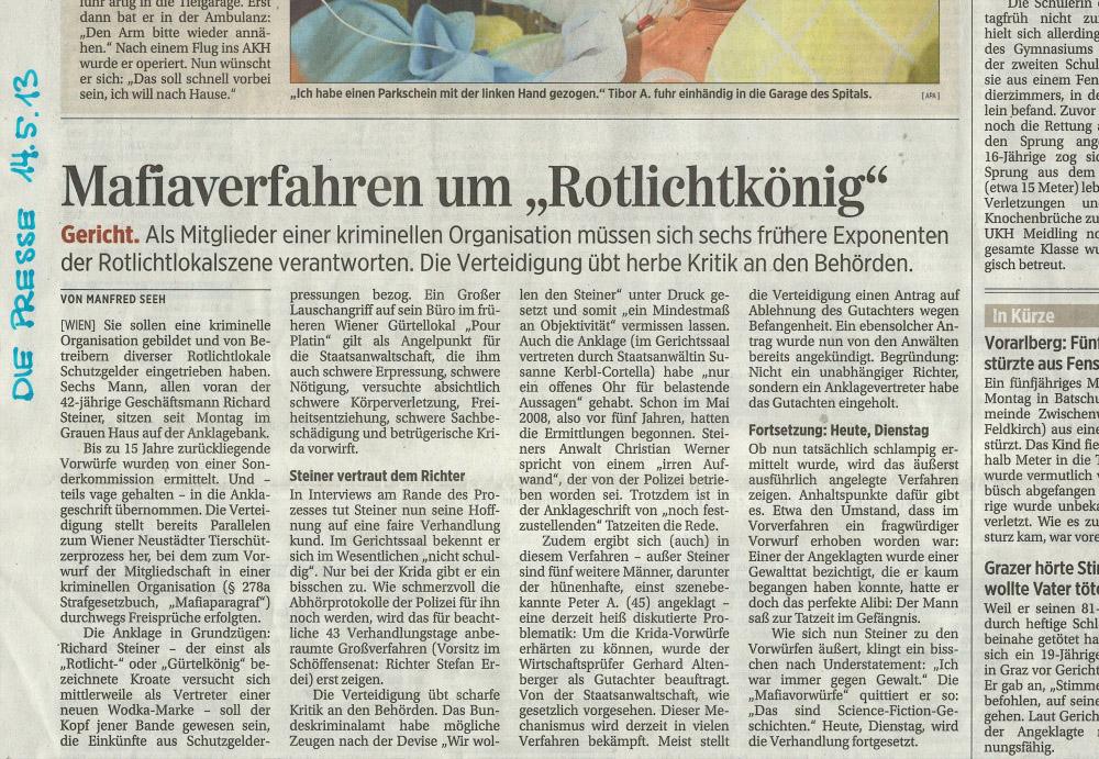 14. Mai 2013 © Die Presse