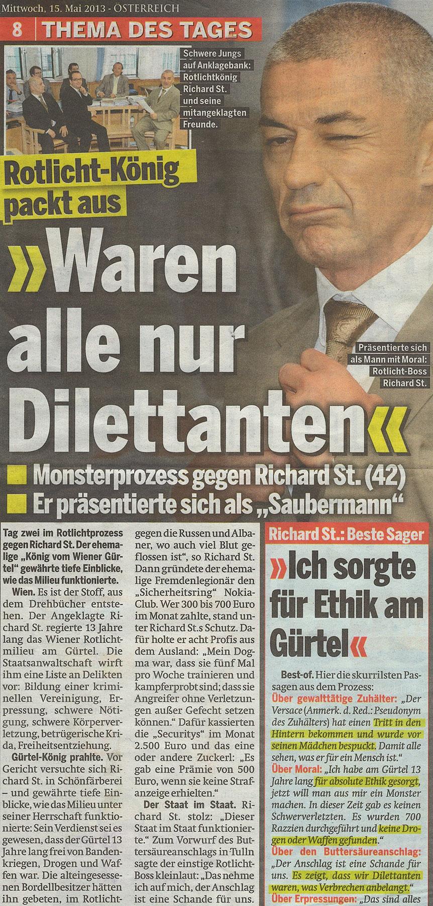 15. Mai 2013 © Österreich